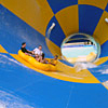 Waterpark slide